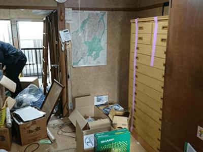 空き家整理 家財整理、買取り、室内清掃、家屋解体まで承ります