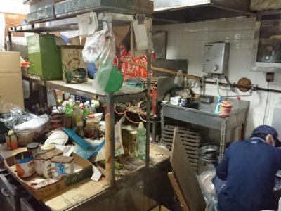 元蕎麦屋さんの店舗整理にて。
